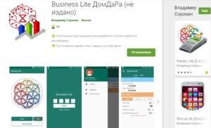 Приложение Business Lite ДомДаРа